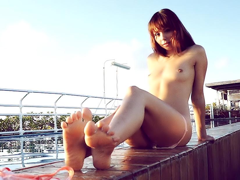 Poolside. Erotic video