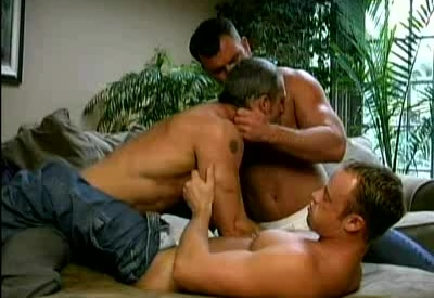 Hot Beefcakes Having a Three-way