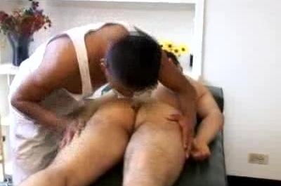 Cute Gay Latino Slurping a Cock