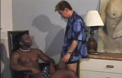 White Gay Slurping a Huge Black Meat