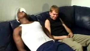Hot Black Gay Enjoys Interracial Oral