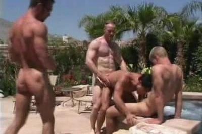 Gay Bears Pool Threesome