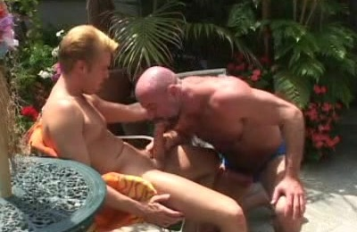 Bald Gay Bear Gives Oral