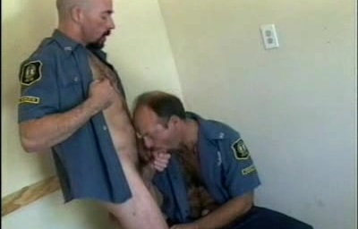Behind Banged Bodybuilder Cop
