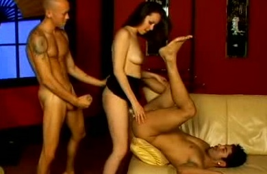 Anne Parker Bisexual Strap-On Threesome