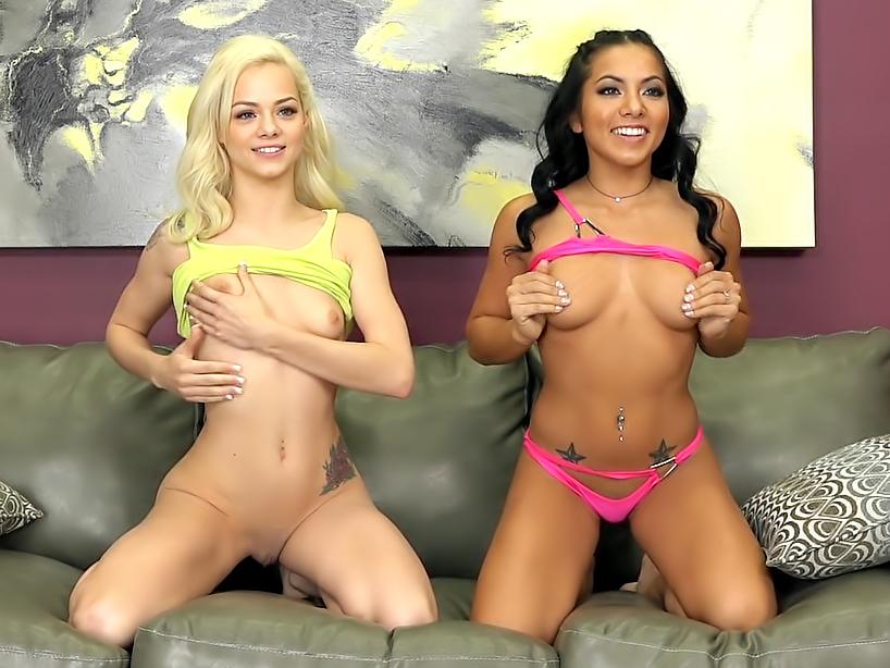 Two Hot Petite Lesbians Fucking LIVE