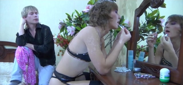 Paul and Silvester cockloving crossdresser on video