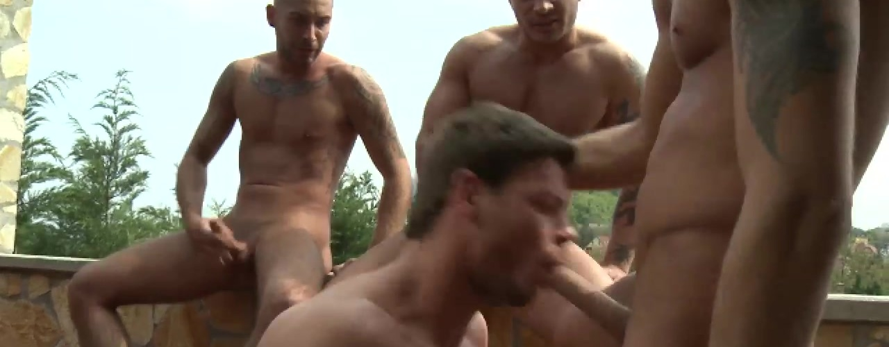 Toby Dutch Rides Raw Cock in a Bareback Foursome
