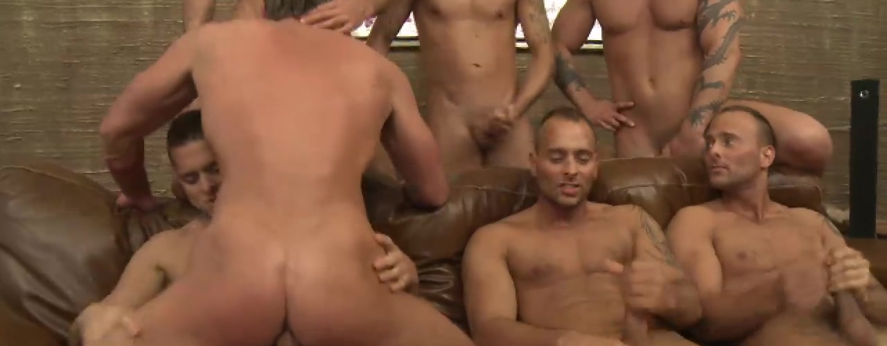 Toby Dutch Gets Fucked in a Seven-Man Bareback Gang Bang