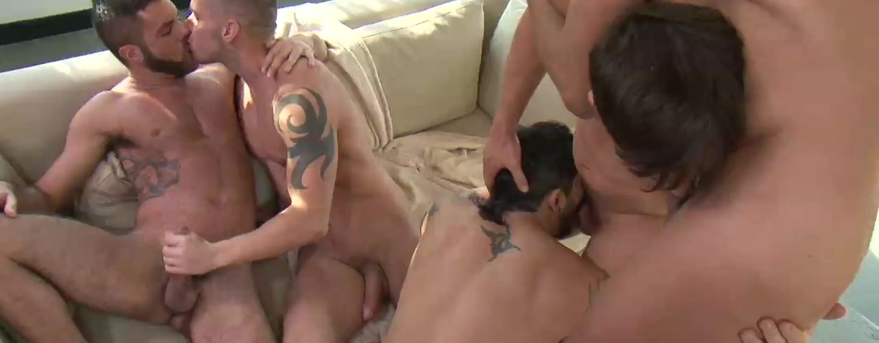 Jed's Bareback Sex Fest Heats Up When Rafael Carreras Stops By