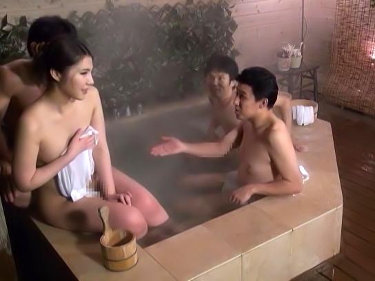 Hot Japanese Av Model In Hardcore Mmmf Bath Outdoors