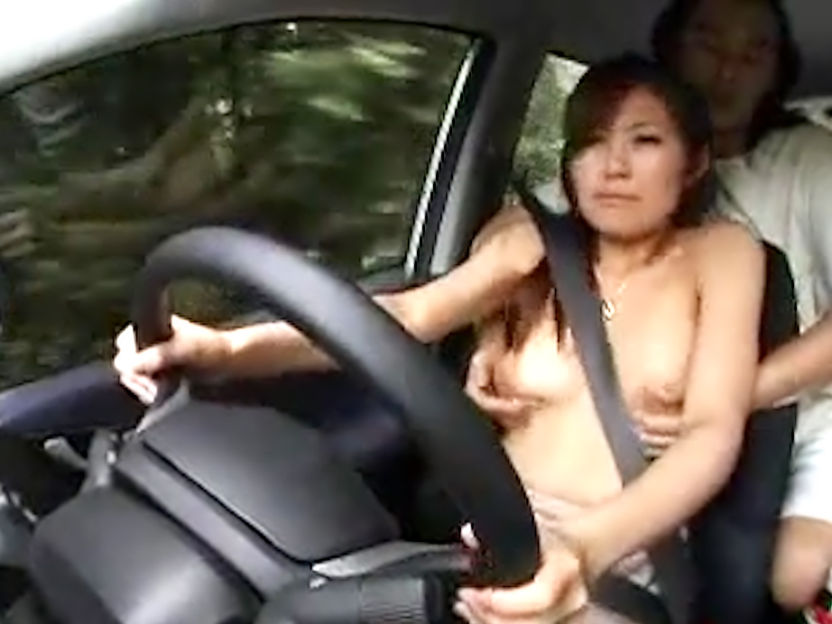 Cute Japanese chick gets fondled and groped while driving