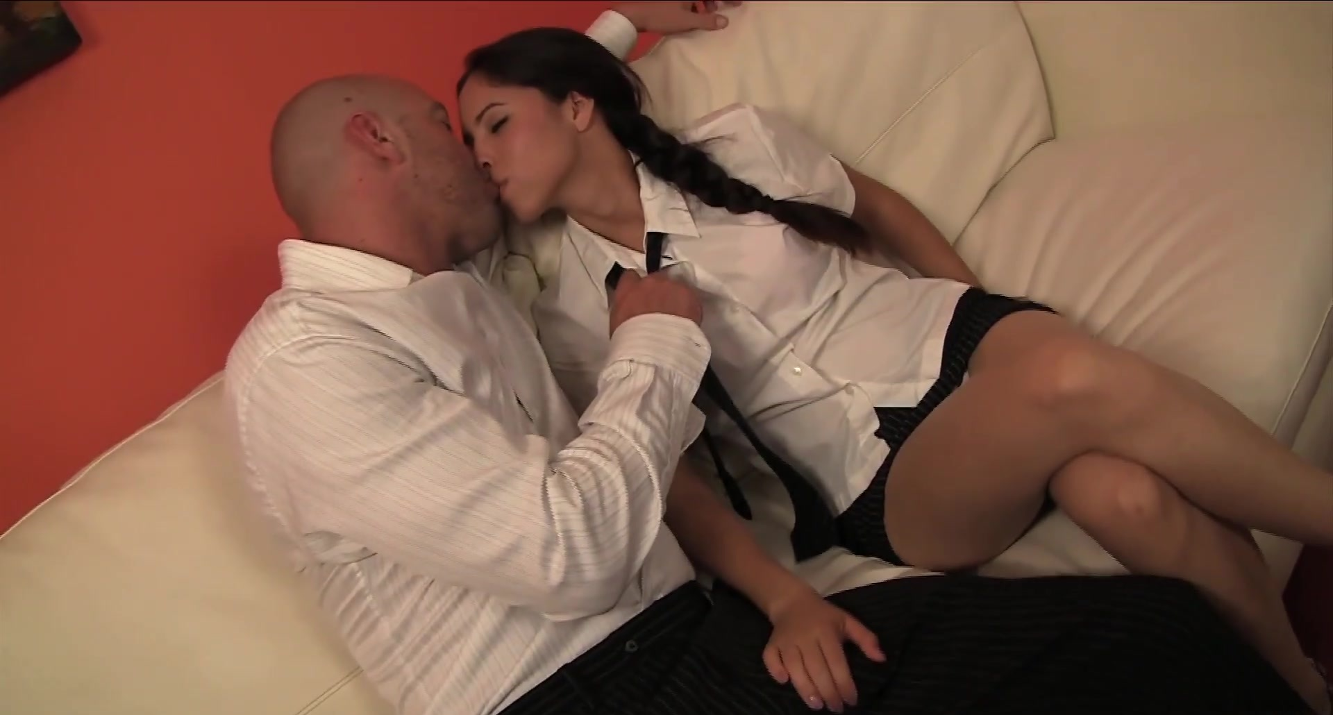 Young Teen Sofia Striker fucks her boss eats cum