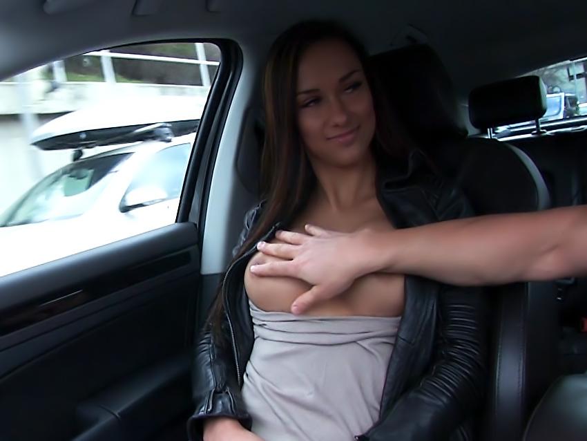 Brunette Gets in a Stranger's Car
