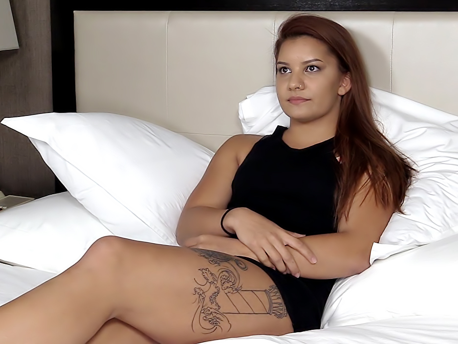 Amber. Porn casting video