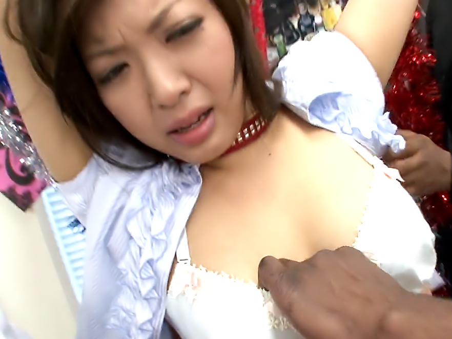 Nami Himemura gets her twat stimulated by black dudes