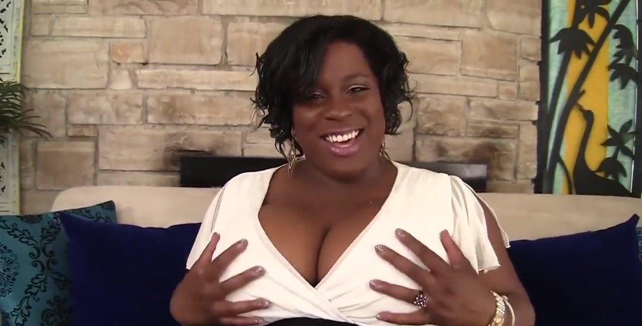Horny black plumper Marliese Morgan masturbates