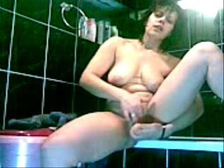 Hidden cam caught great masturbation of my horny mom_240p