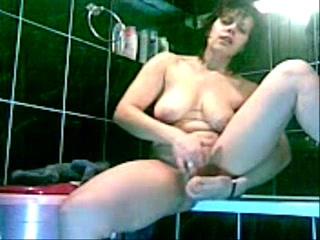 Hidden cam caught great masturbation of my horny mom_240p