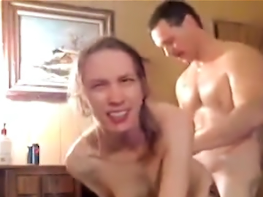 Amateur couple having anal sex at home