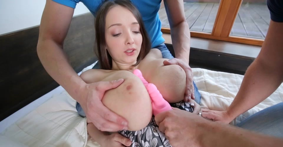 18yo Busty Buffy enjoys sex with two guys