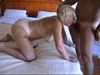 Blonde Mature fucks doggy in her ass_240p