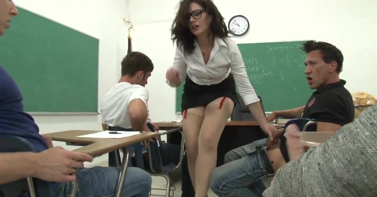 Adult class teacher gets a load from every student
