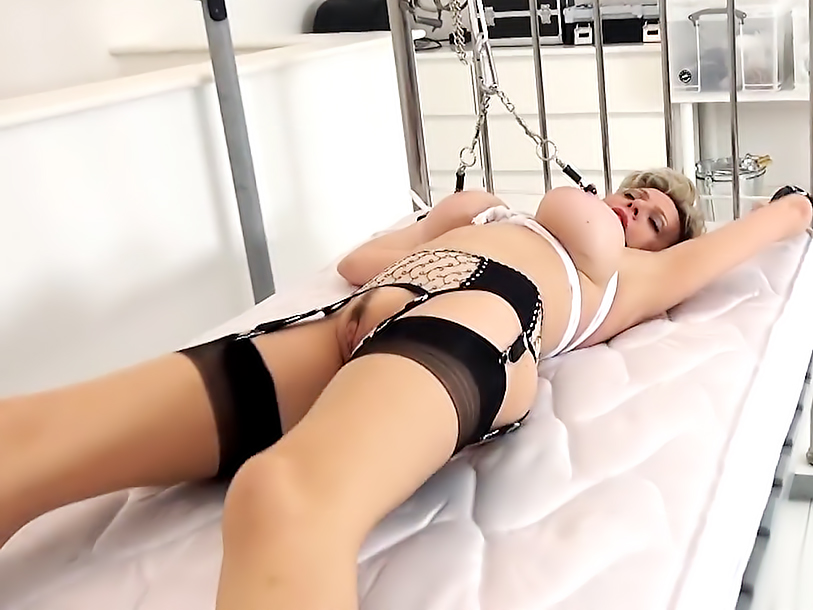 Married Housewife Tied To The Bed!