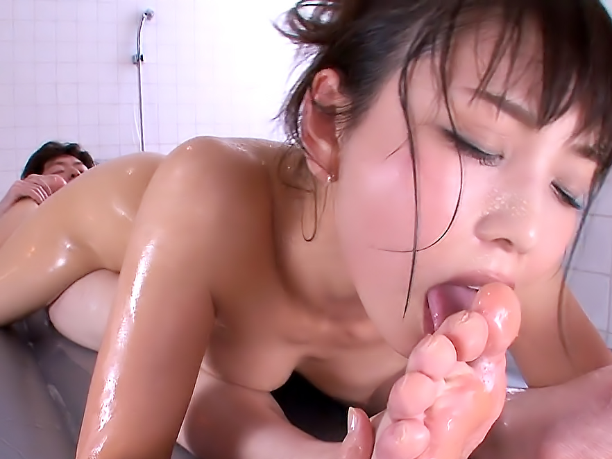 Yuki Gets Oiled Up And Fucked Hard