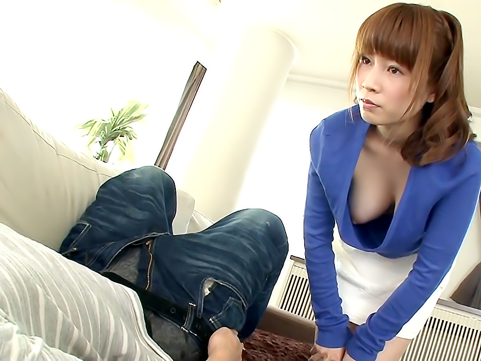 Saki Helps Her Step-Son With His Homework