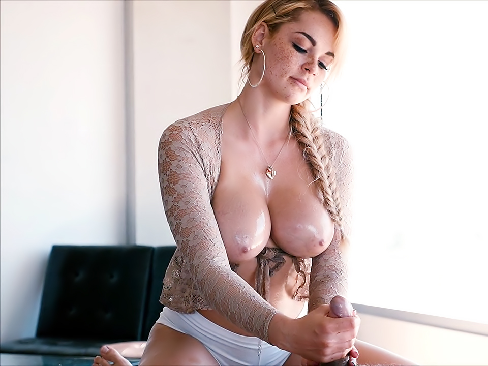 Busty Blonde Masseuse