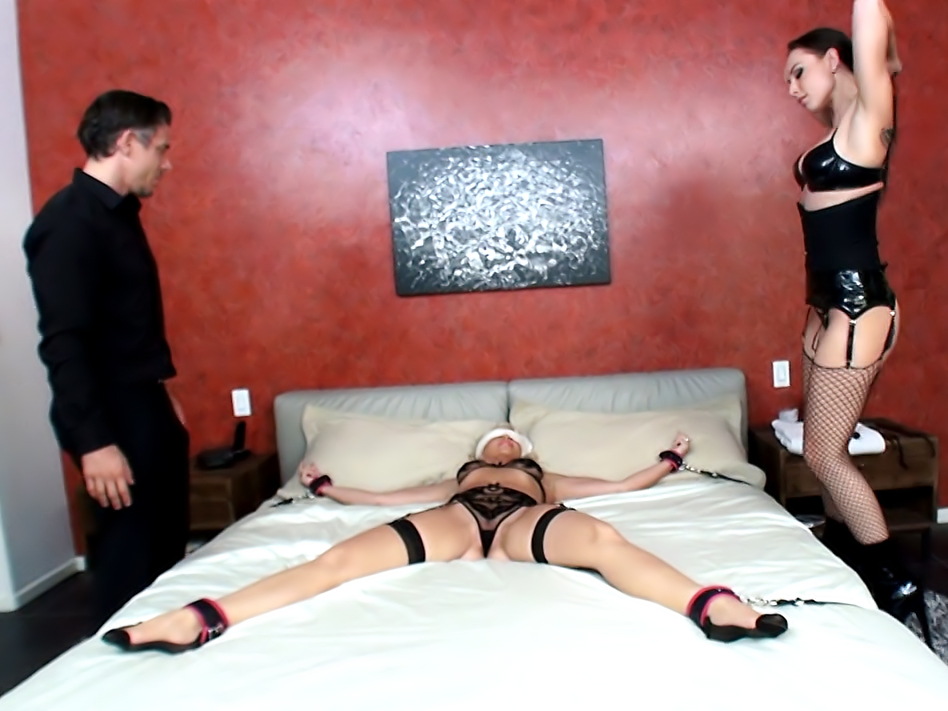 Wife Bound For Surprise Anal Threesome