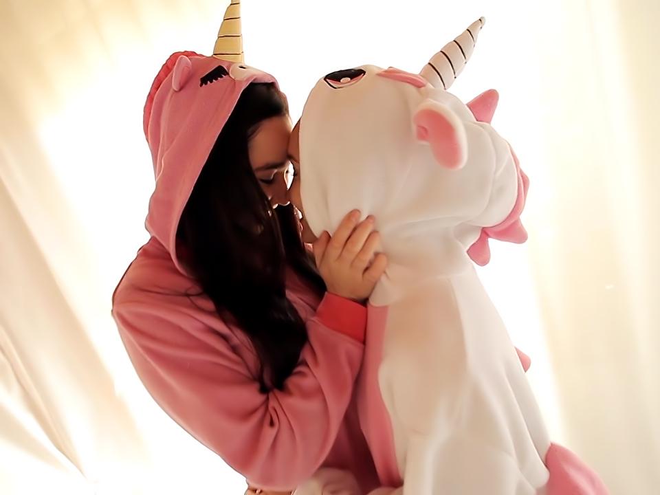 Sweet Lesbians In Unicorn Pajamas