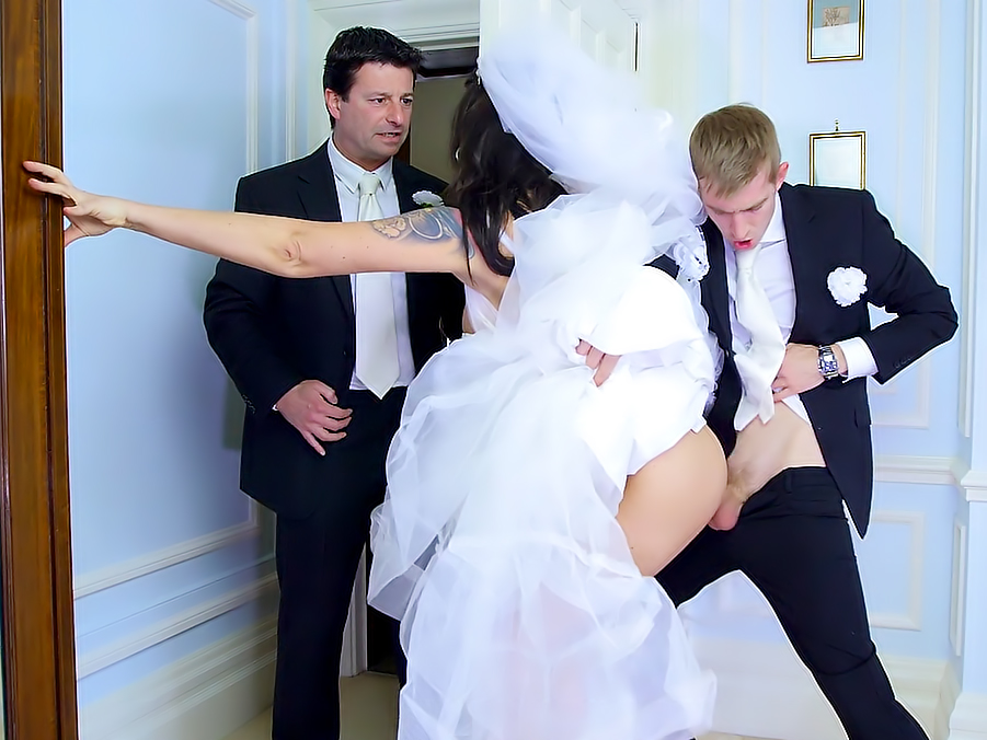 Wedding day sex porn