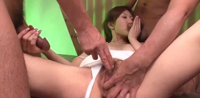 Dazzling threesome scenes along sensual Yura Kasumi