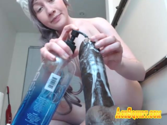 Big White Ass Rides ACESQUIRT Sex Toy Til Dripping Delicious Cream