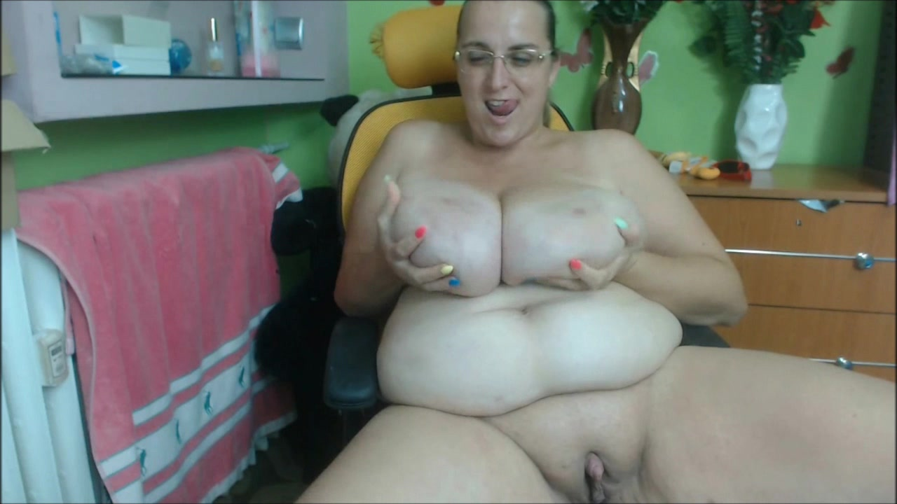 Dick Huge Clitoris Handjob and Huge Tits