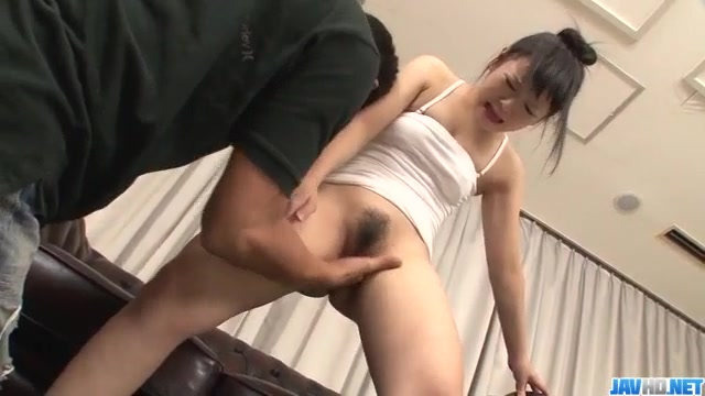 Koyuki Ono endures rough pounding in her tiny vag