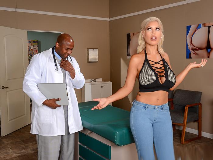 Nina Elle starrte in Arzt-porno