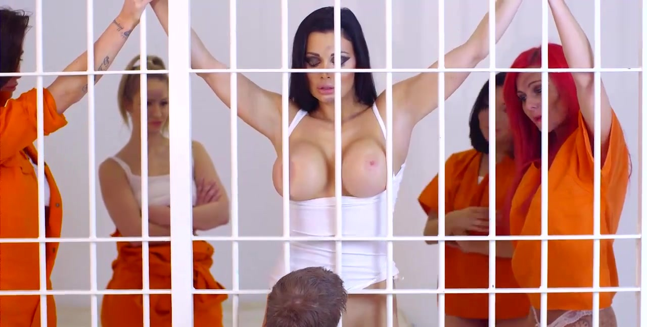Prison babe having rough anal