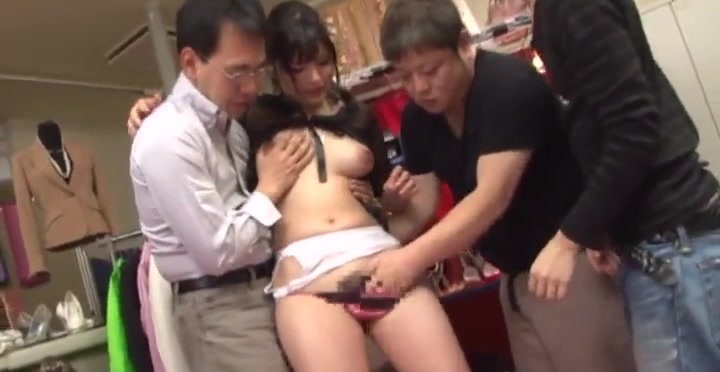 Asian slut Satomi Nomiya sucks and titfucks a few pricks