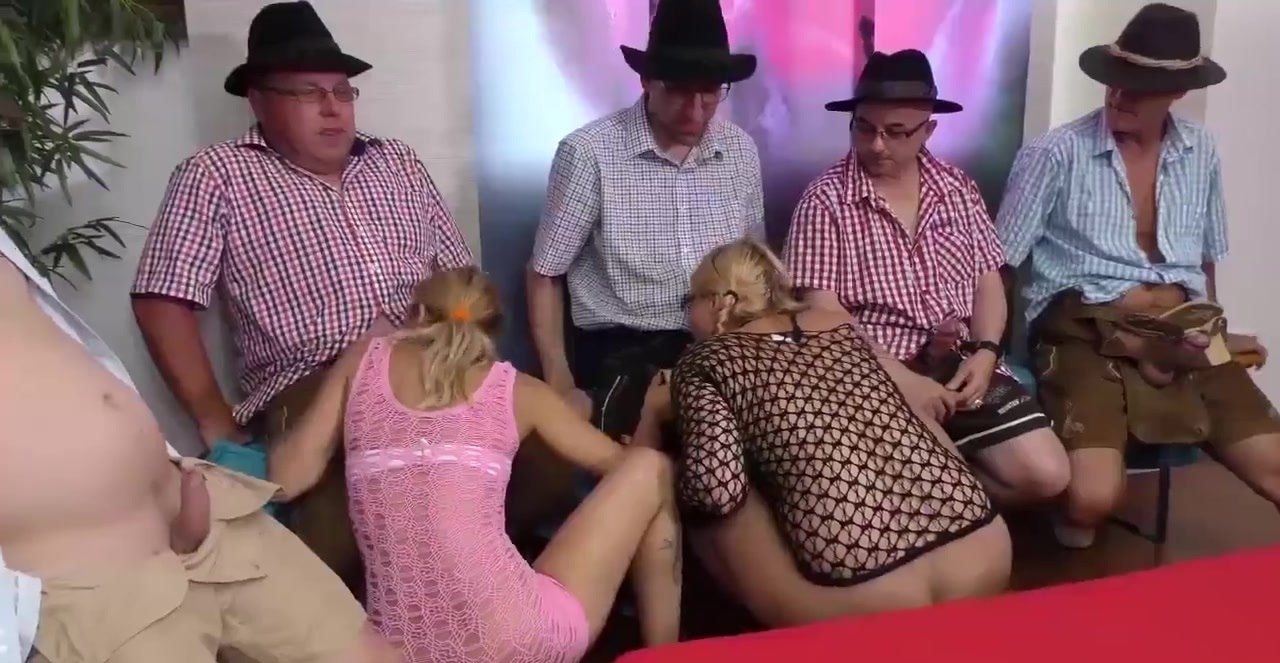 Bukkakes german gangbang sex party