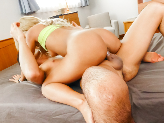 Karin enjoys stiff cock up her amazingly hot pussy