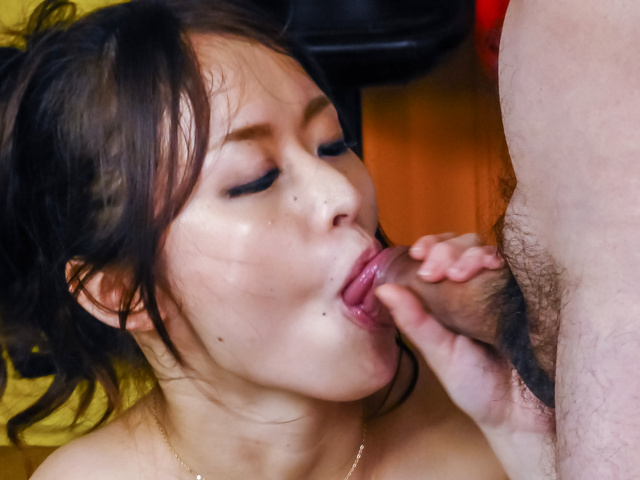 Busty beauty starts throating two cocks in special pov show 2