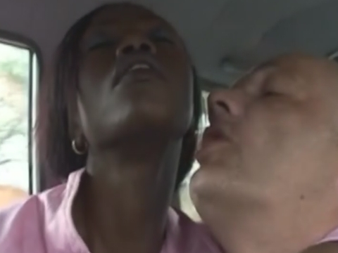 Beautiful black babe from Africa wraps lips around white dick and gives perfect blowjob
