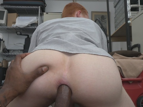 Sex junkie ginger hair gay had his gaping asshole doggy penetrated by BBC