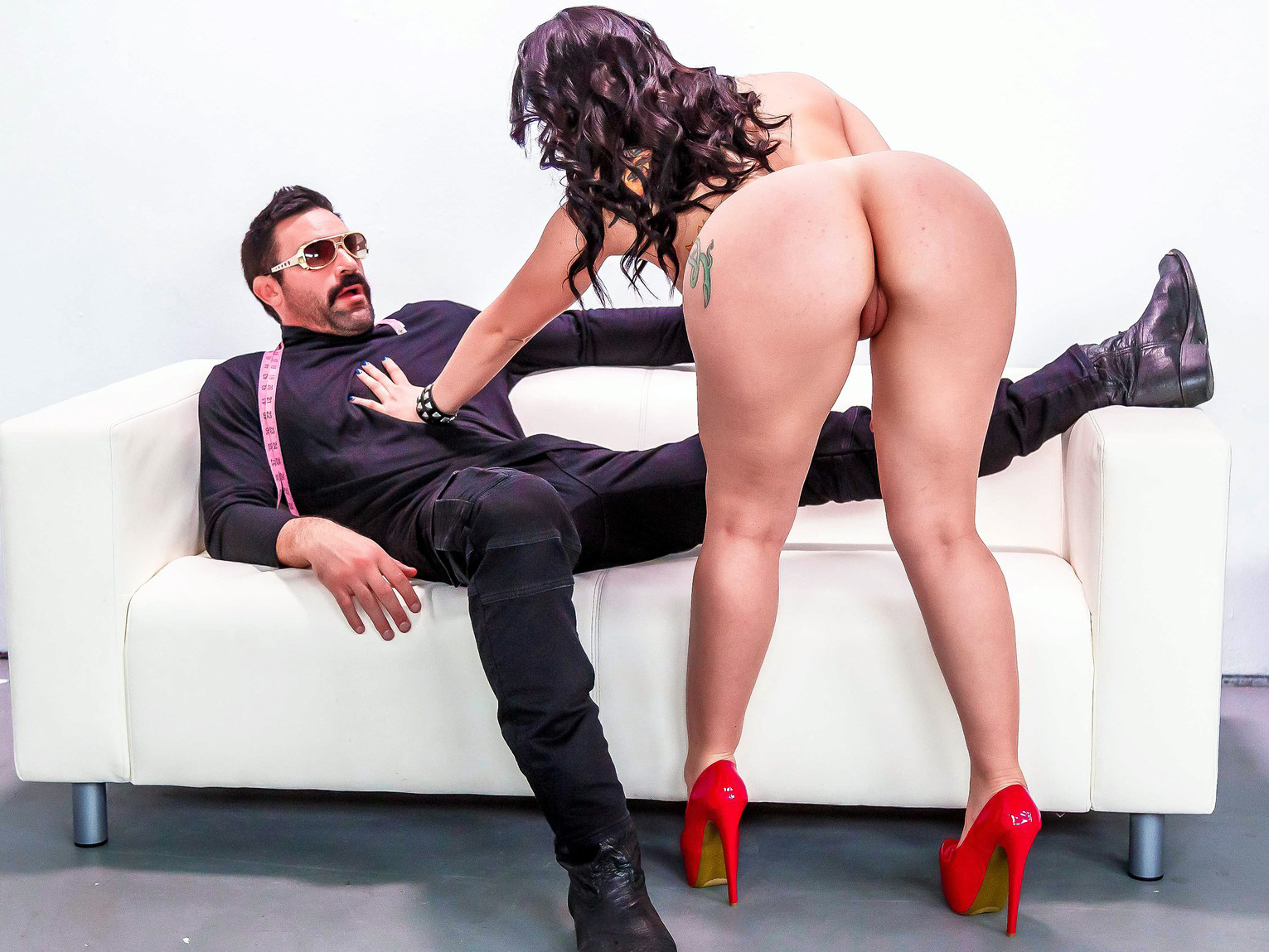 Big Ass Latina Bouncing Cock