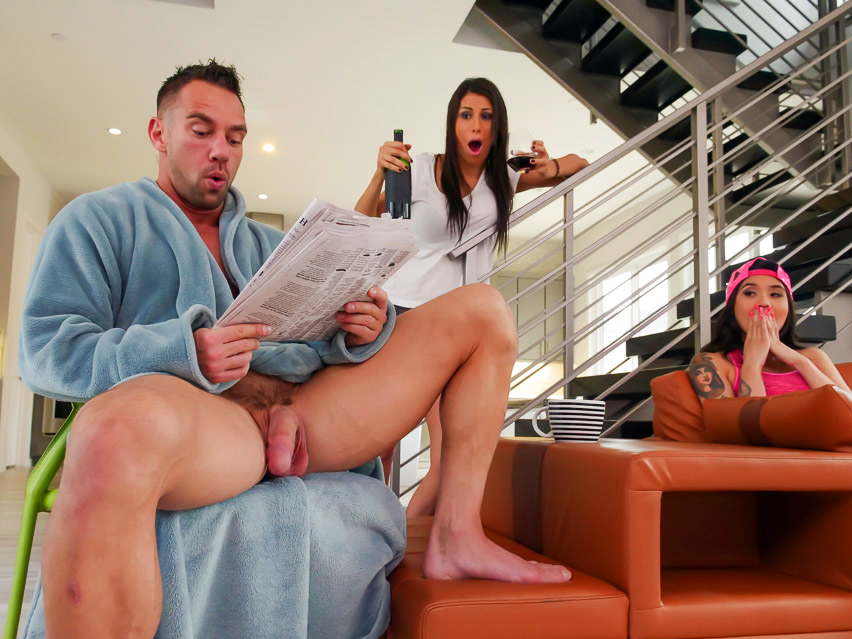 Family Strokes Family Shares A Bed
