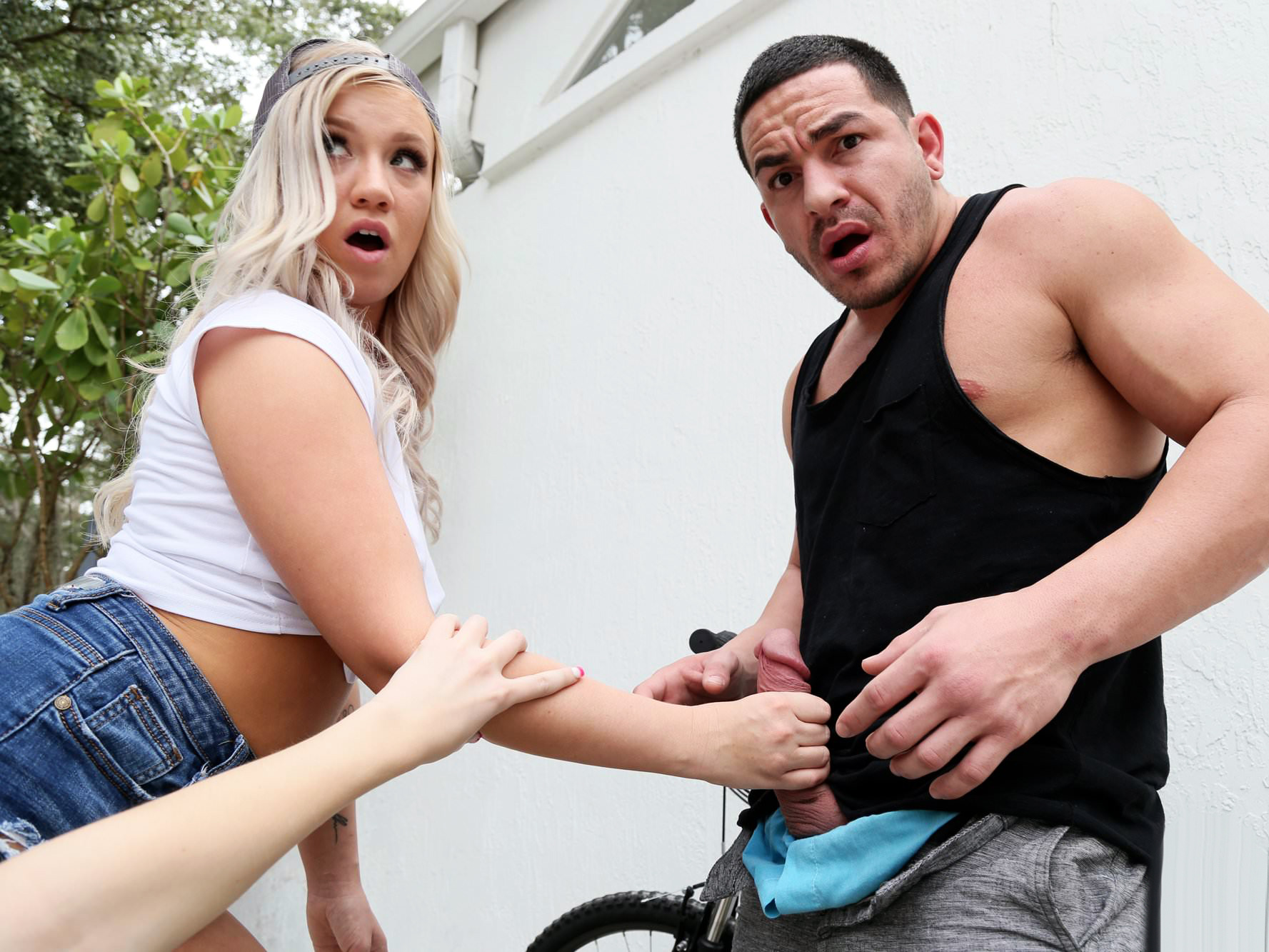 Threesome With Hot Bike Thief