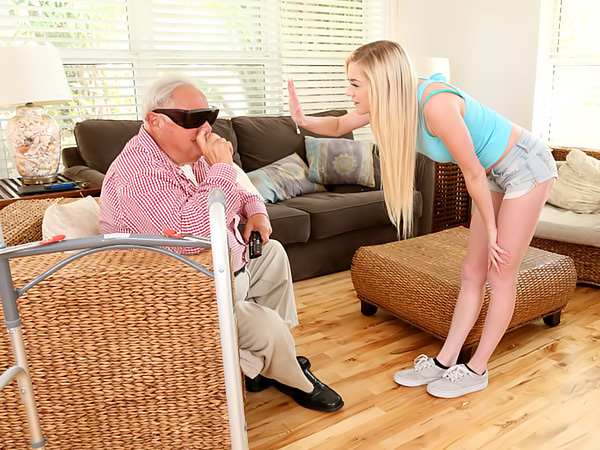 Old Man's Sneaky Nurse Gets Perverse